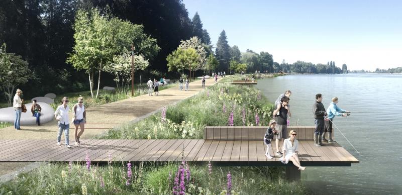 Lac d'Allier : l'avancée des travaux de la rive gauche en vidéo