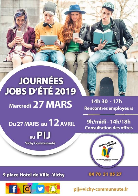 Jobs ete Vichy 2019