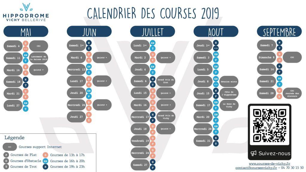 calendrier hippodrome 2019