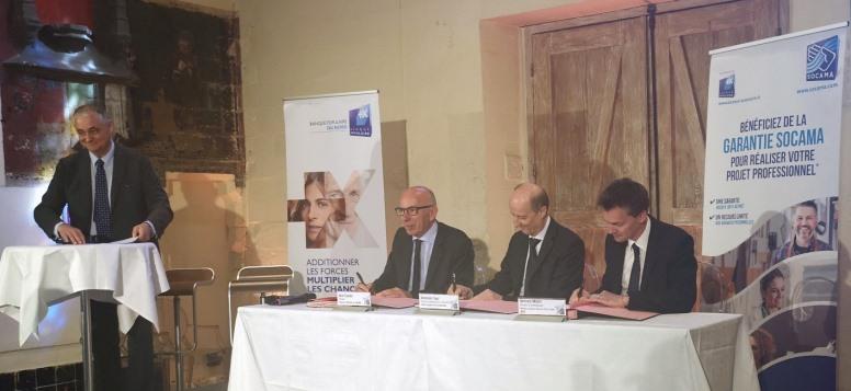 Banque Populaire et la fédération nationale des Socama signent avec le FEI un nouvel accord en faveur des TPE