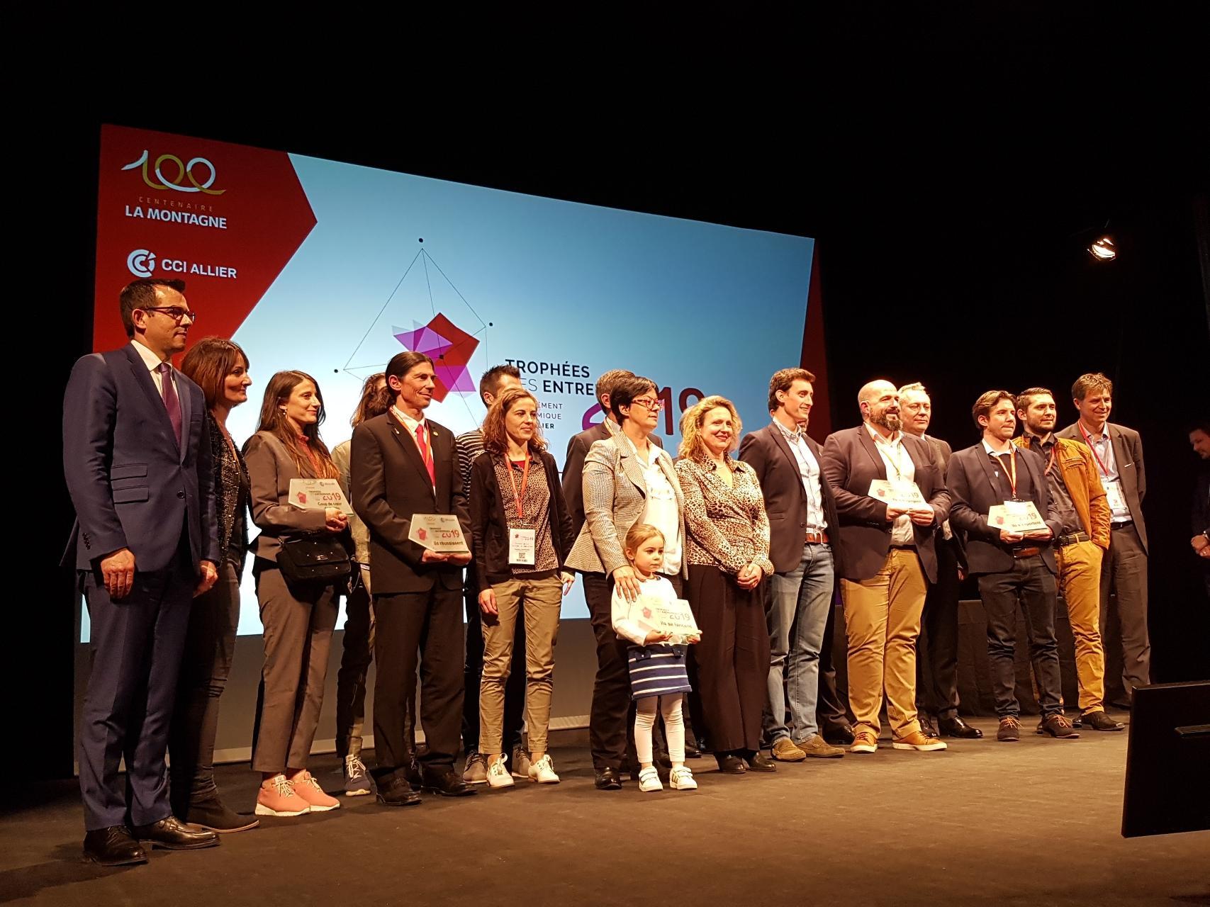 Les lauréats des trophées des entreprises de l'Allier