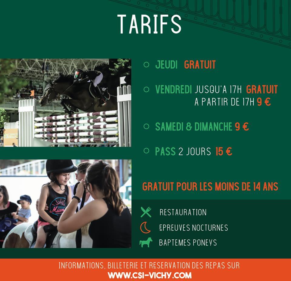 tarifs jumping vichy 2019