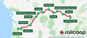 ligne Lyon Bordeaux