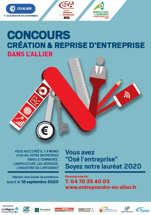 concours creation reprise ent allier - 2020