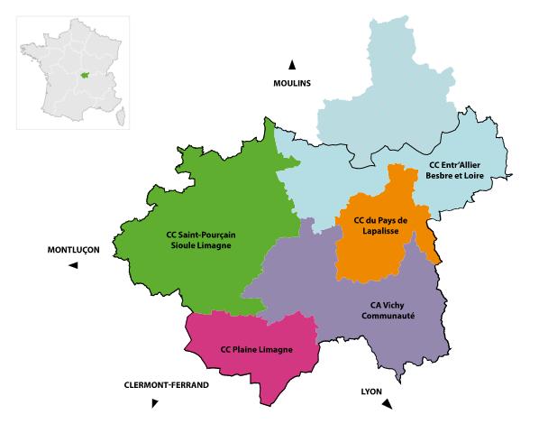 carte pays vichy auvergne