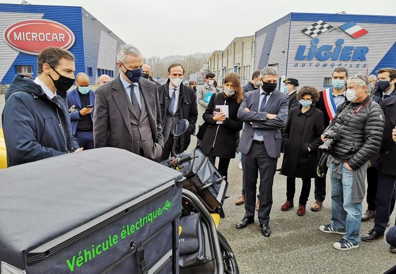 Bruno le Maire - visite Ligier